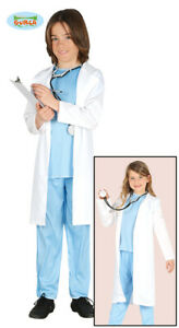 Doctor Coat White Children/'s Kids Surgeon Lab Coat Unisex Fancy Dress Costume