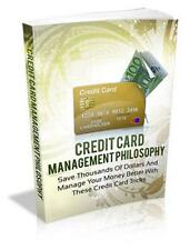 Credit Card Management Philosophy Ebook On CD $5.95 + Resale Rights Ships Free