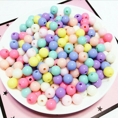 Light Mint Solid 20mm Chunky Acrylic Beads 10 ct for Bubblegum Gum Ball Necklace