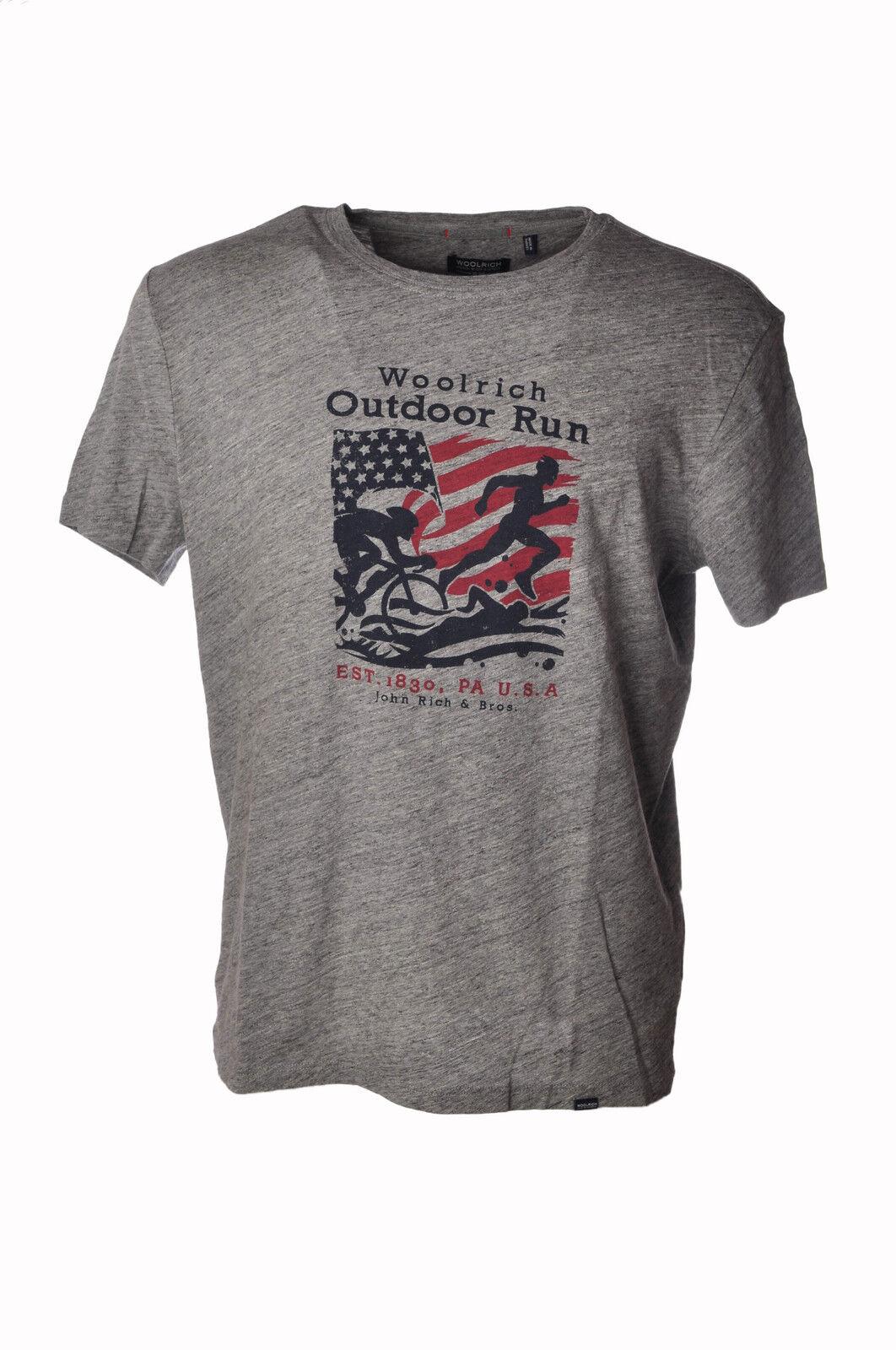 Woolrich - Topwear-T-shirts - Man - Grau - 3559904E184906