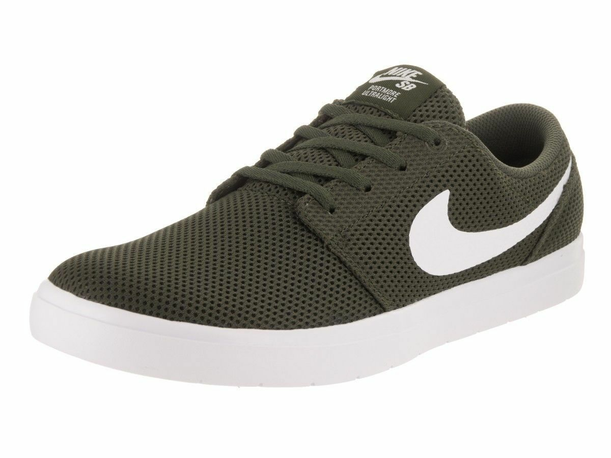 Nike sb portmore ii ultraleggeri pattinare uomini scarpe 11 lupo olive 880271-311 taglia 11 scarpe nuovi a6aeca