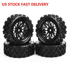 PP0487+BBNK 4 X Rubber Tires Wheel Rim For RC 1/10 Rally Racing Off Road Car