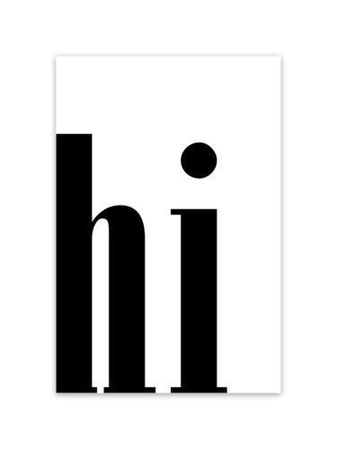 """/""""hi 3/"""" verschiedene Größen Kunstdruck Poster Bild Druck Motiv"""