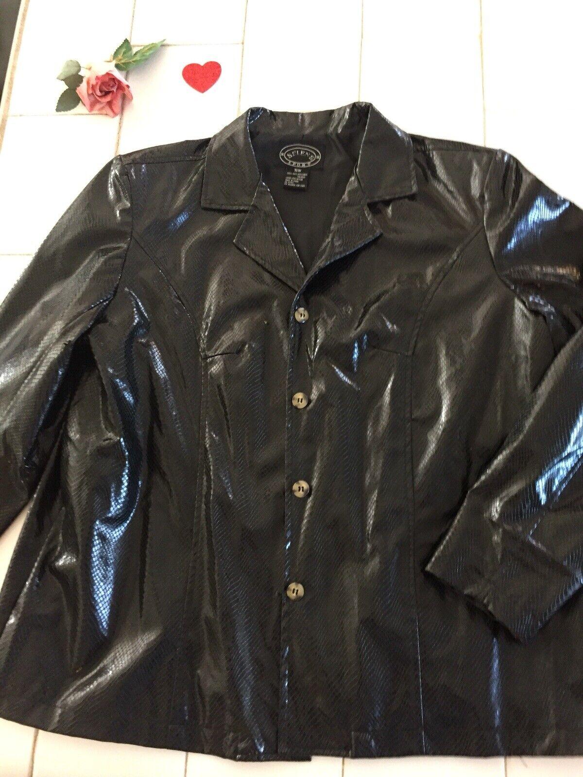 VINTAGE Selene Sport Faux  Snakeskin Jacket Coat … - image 2