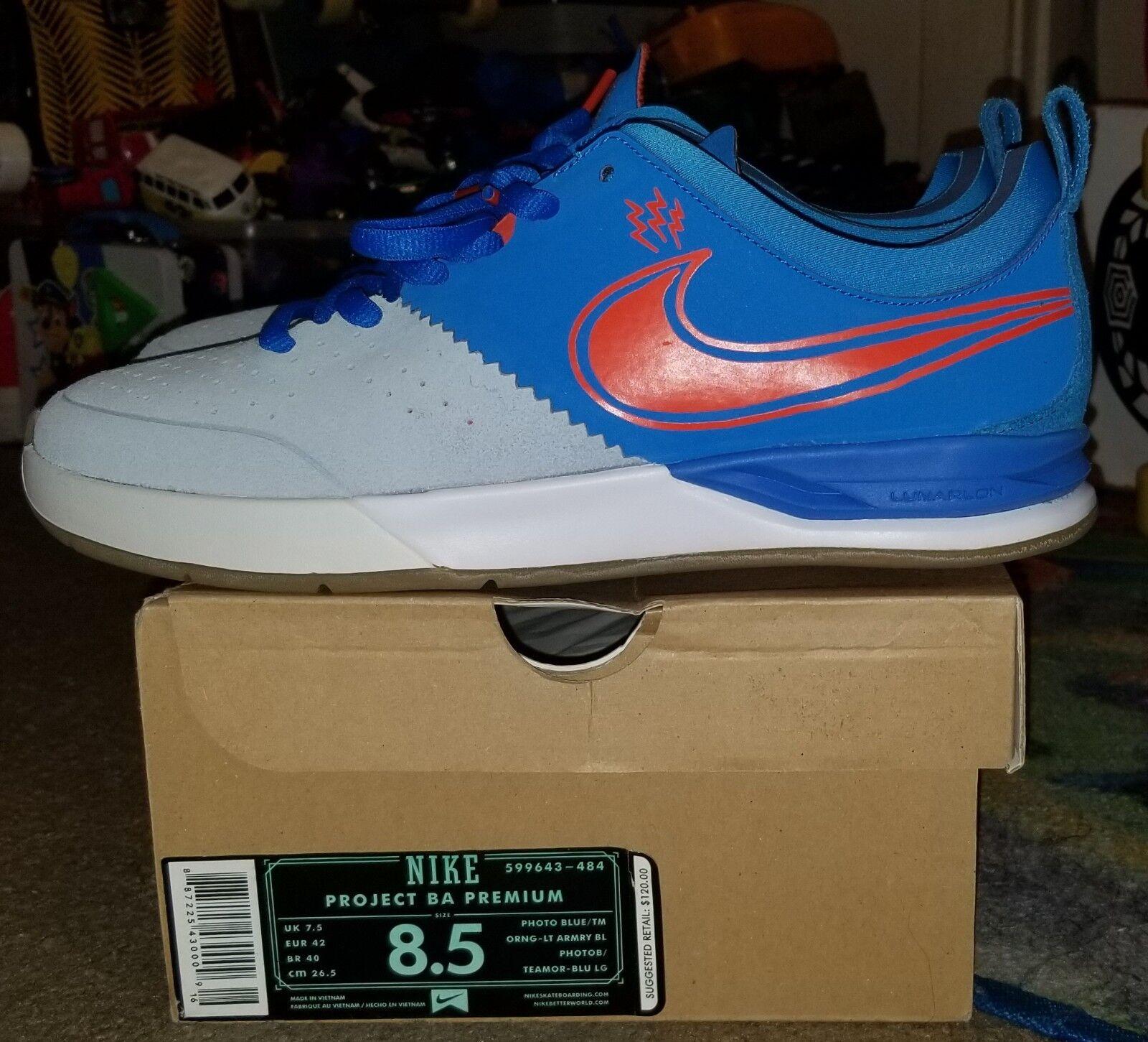 Nike Sb Project Ba Premium Sz 8.5 Vnds Koston Rodriguez nyjah malto