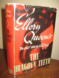 THE-DRAGON-039-S-TEETH-Ellery-Queen-MYSTERY-Grosset-Edition-CRIME-Fiction-DETECTIVE