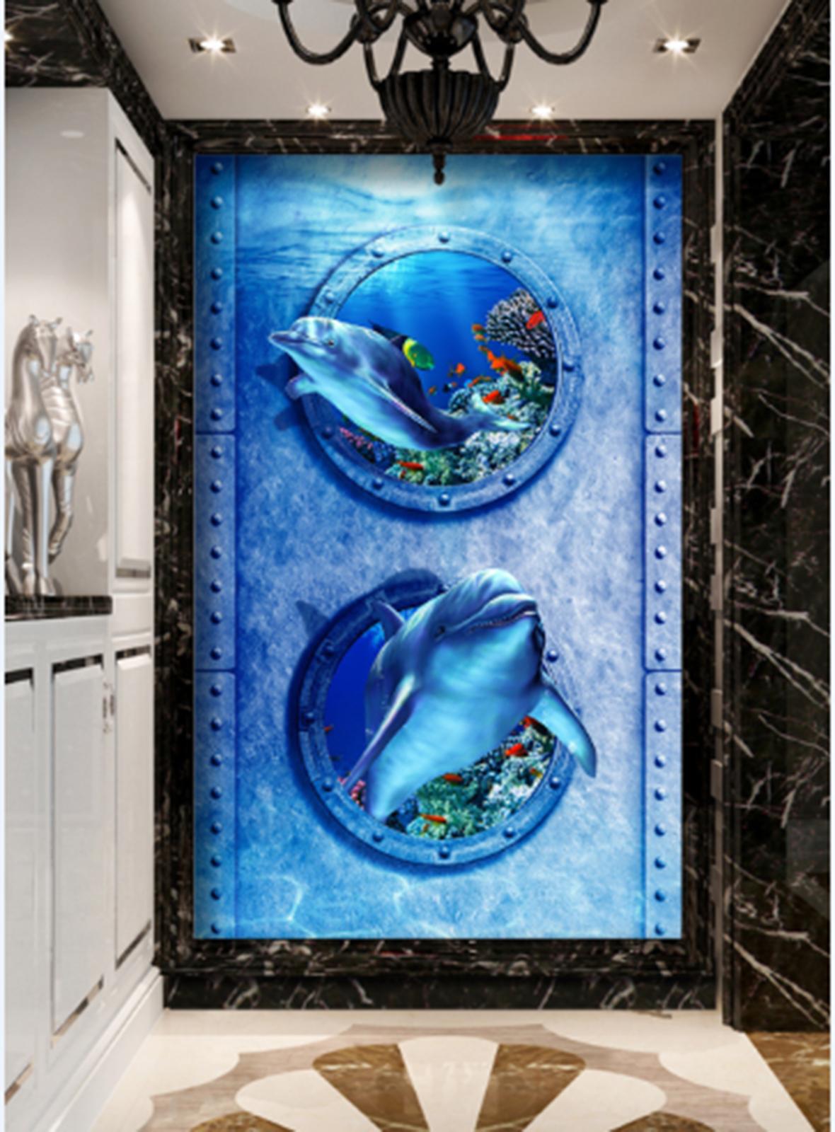 3D Blau Muster 578 Fototapeten Wandbild Fototapete Tapete Familie DE Lemon