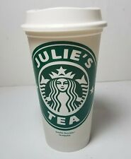 Starbucks Reusable Coffee Cup Monogram Custom Personalized Initials On Lid For Sale Online Ebay