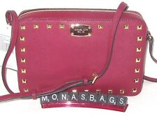 17f78523c5cb86 item 4 Michael Kors Cherry Saffiano Leather Large Crossbody Stud Studded  Bag NWT $228 -Michael Kors Cherry Saffiano Leather Large Crossbody Stud  Studded Bag ...