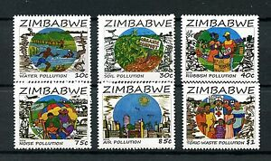 Zimbabwe 2016 MNH Prevent Pollution 6v Set Science Environment Stamps