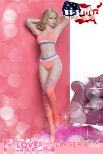 """1//6 soutien-gorge Sport Top Underwear Bas Set Pour 12/"""" PHICEN figure féminine ❶ USA ❶"""