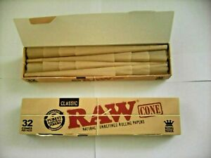 3 x 32 Raw Classic King Size Cones