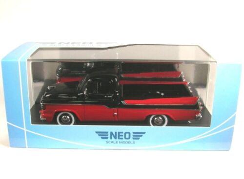 black//red Dodge D100 Sweptside Pickup 1959