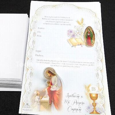 Invitaciones Primera Comunion First Communion Invitations Envelopes Spanish 25x