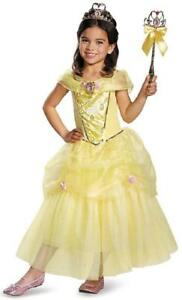 Halloween Princess Dress Up Costume for Girls Belle Dress Beauty and the Beast