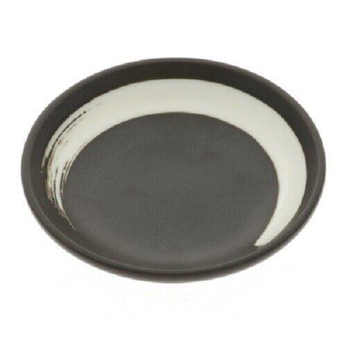 "2 PCS Japanese Soy Sauce Dipping Dish 3.5/""D Ceramic Zen Brush Stroke JAPAN MADE"