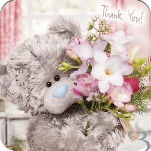 Me To You Thank You Bear Luxury Greeting Cards and Envelopes