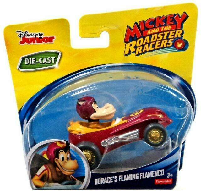 MICKEY AND THE ROADSTER RACERS HORACE/'S FLAMING FLAMENCO DIECAST VEHICLE