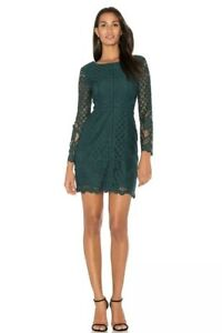 fd4b5b5b71b NEW Cupcakes and Cashmere Spence Forest Green Lace Dress Sz 2 Long ...