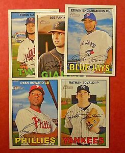 2016-Topps-Heritage-amp-Heritage-High-Number-Lot-You-Pick-25-Inserts-included