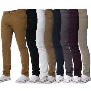 Kruze-Jeans-Designer-Mens-Stretch-Slim-Fit-Chinos-Trousers-All-Waist-Sizes-Holt
