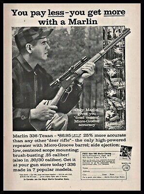 1962 MARLIN Model 336 Texan Lever Action Rifle PRINT AD | eBay