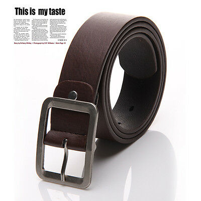 Fashion Men's Casual Dress Faux Leather Belt Buckle Waist Strap Belts New