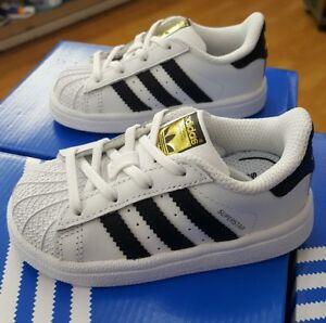 adidas originals superstar bb9076 weiß / schwarz kleinkind uns sz 9. ebay