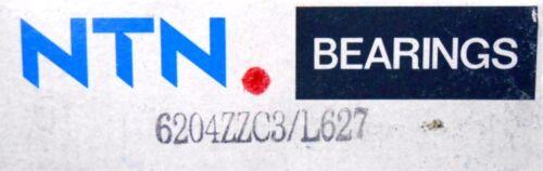 6204ZZC3//L627 BALL BEARING NIB 20 X 47 X 14MM SHIELDED NTN BEARINGS