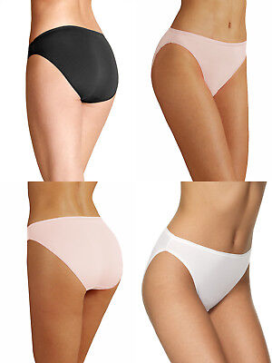 Pack of 2 M/&S Modal Cotton Blend No VPL High Leg Knickers choice of colour