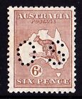 Australia 1929 Kangaroo 6d Chestnut Small Multiple Watermark Perf OS MNH
