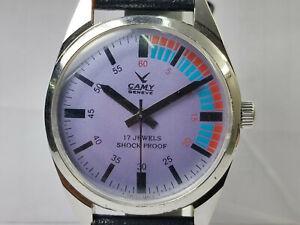 Vintage-Camy-Mens-Analog-Dial-Mechanical-Handwinding-Movement-Wrist-Watch-OG104