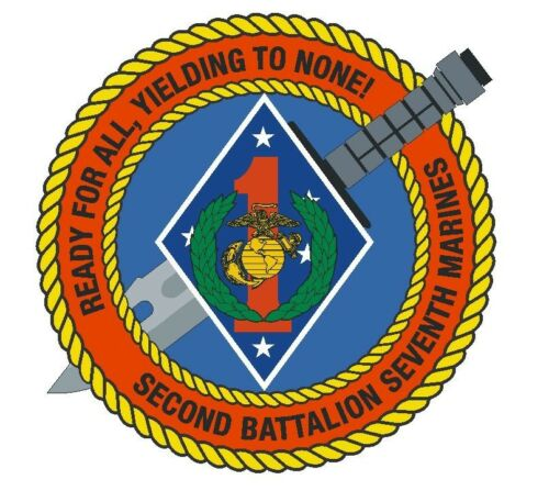 2nd Battalion 7th Marine Regiment Vinyl Decal Sticker Military Armed Forces R397
