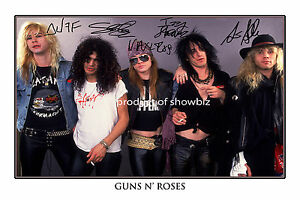 GUNS-N-039-ROSES-AUTOGRAPHED-SIGNED-PHOTO-POSTER-GREAT-PIECE-OF-MEMORABILIA