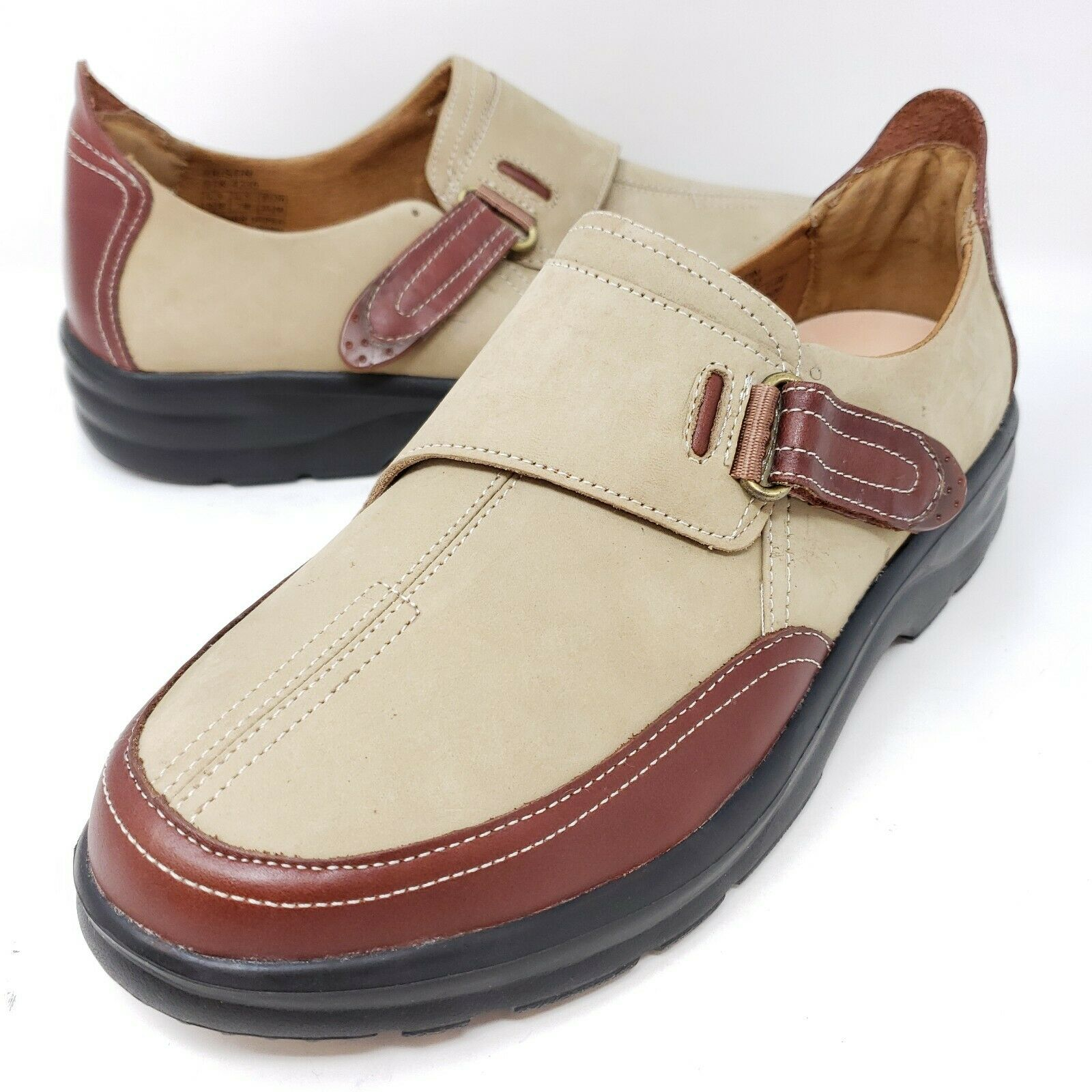 Dr Comfort Kristin Women's Diabetic Shoes Sz 9.5 M Brown Tan Slip On Comfort