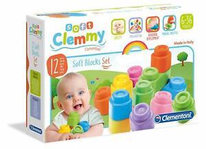 Baby Clemmy Clementoni 14706 Mattoncini Morbidi 12 Pezzi Blocchi per costruzioni