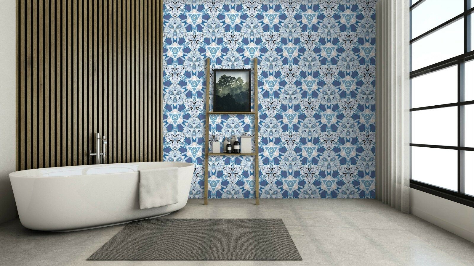 3D Abstract Blau Rose 1 Texture Tiles Marble Wall Paper Decal Wallpaper Mural AJ