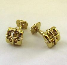 TIFFANY & Co. 18K Gold Biscayne Cufflinks