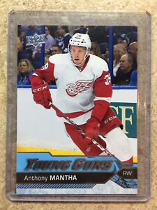 16-17-UD-Upper-Deck-YG-Young-Guns-Rookie-RC-213-ANTHONY-MANTHA