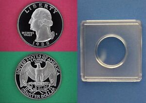 1988 S Proof George Washington Quarter With 2x2 Case Dp Cameo Combined Shipping
