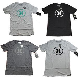 2d0dc8db Hurley Men's Circle Icon Nike Dri-Fit Short Sleeve Premium Tee Shirt ...
