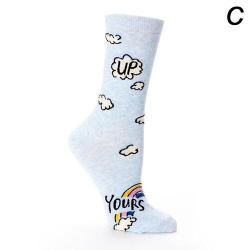 1 Pair Fashion Casual Cartoon Fruit Printed Cute Cotton Warm Long Tube Socks