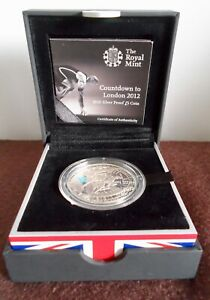 2010 Silver Proof £5 - Countdown Olympics London 2012 925 Sterling BUNC MINT