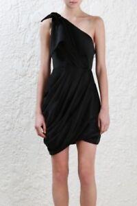 Zimmermann-Bow-Bodice-Dress-Black-Mini-Cocktail-Draped-One-Shoulder-600-RRP