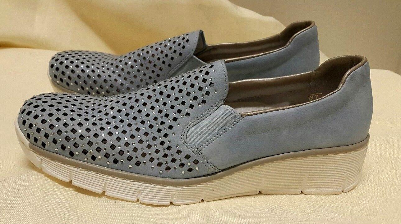 NEW Rieker Doris Antistress shoes, Sky - UK 4 EU 37
