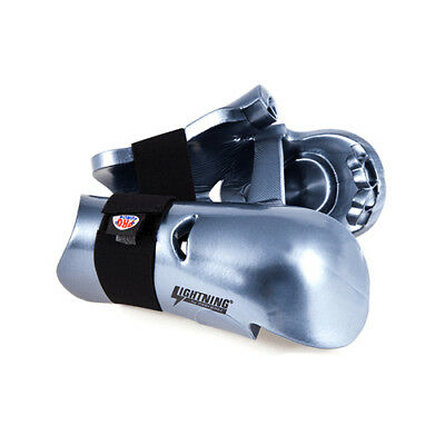 ProForce Lightning Karate Sparring Gloves Punches Kids Youth and Adult Silver