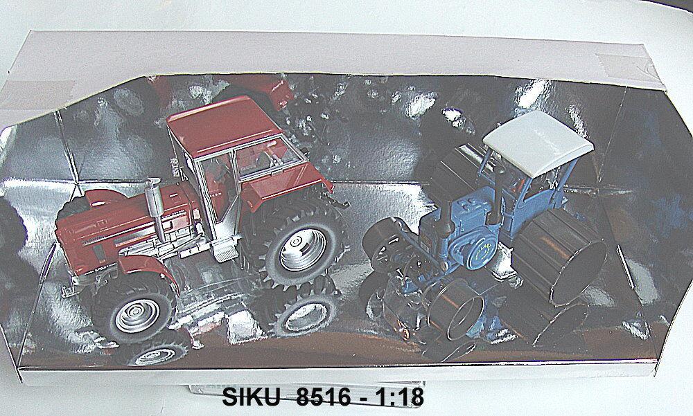 Siku 8516 1  3 2 Modelo Especial - 2 Tractores  Lanz Bulldog y Schlüter Súper 1