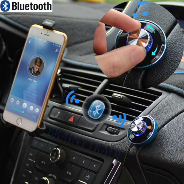 3.5mm AUX Cable Car Adapter Bluetooth Hands free Car Kit Receiver USB Charger