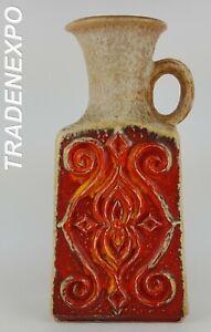 Vintage-1960-039-70s-UBELACKER-U-KERAMIK-Vase-West-German-Pottery-Fat-Lava-Era