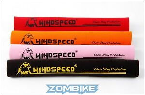 Windspeed-Neoprene-Chainstay-Guard-Protector-4-Colours-Red-Yellow-Orange-Black